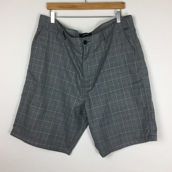 Quiksilver Other - Quiksilver Gray Flat Front Shorts Size 40